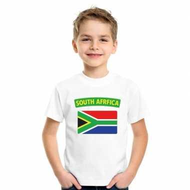 T-shirt zuid afrikaanse vlag wit kinderen