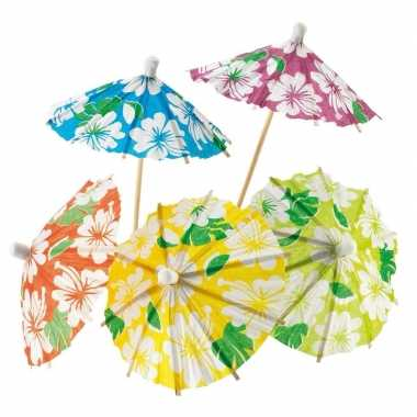 Taart parasols hawaii 48 stuks