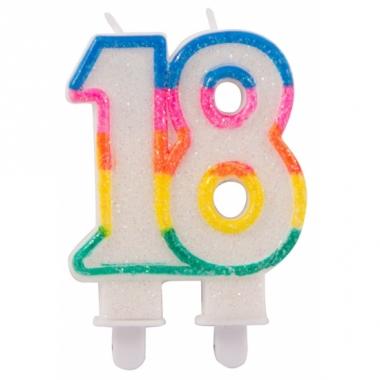 Taartkaars 18 jaar