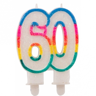 Taartkaars 60 jaar