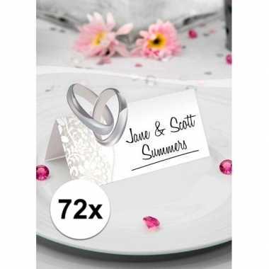 Tafel naam kaartjes trouwdag 72 stuks