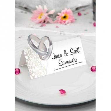 Tafel naam kaartjes trouwdag