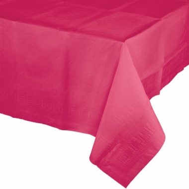 Tafelkleden fuchsia roze 274 x 137 cm
