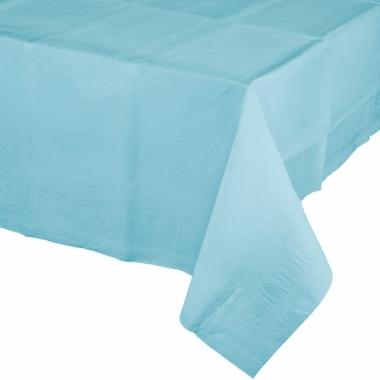 Tafelkleden lichtblauw 274 x 137 cm