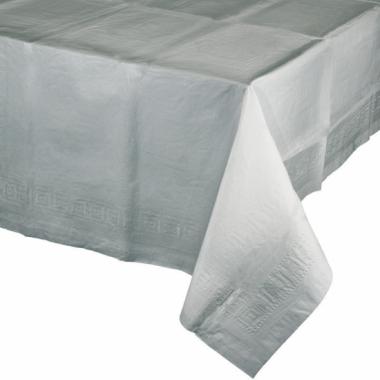 Tafelkleden zilver grijs 274 x 137 cm
