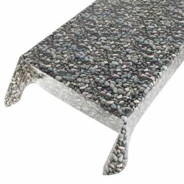 Tafellaken zeil met stenen motief 140 x 170 cm