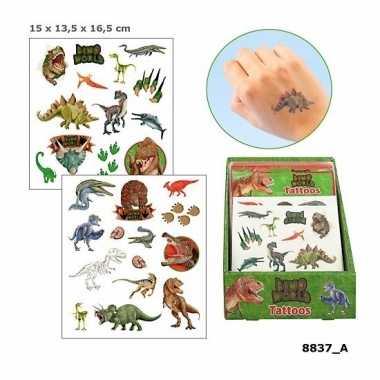 Tatoeages dinosauriers voor jongens 2 vellen