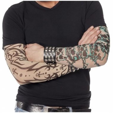 Tattoo armen bedekking doodskop