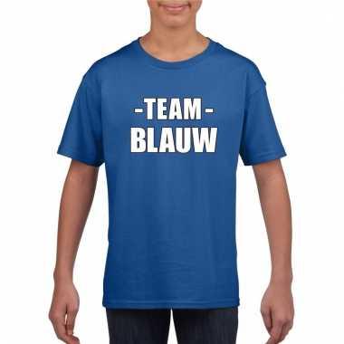 Team blauw shirt jongens en meisjes voor evenement
