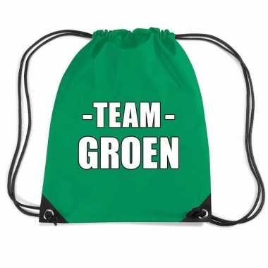 Team groen rugtas voor sportdag