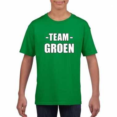 Team groen shirt jongens en meisjes voor evenement