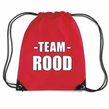 Team rood rugtas voor sportdag