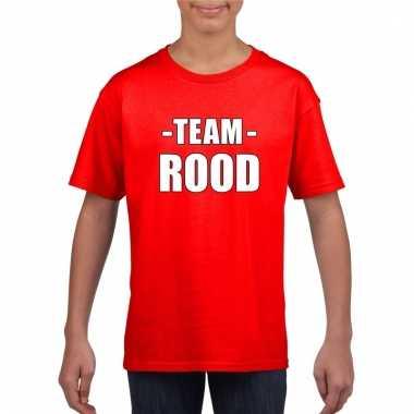 Team rood shirt jongens en meisjes voor evenement