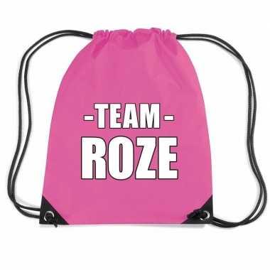 Team roze rugtas voor sportdag fuchsia