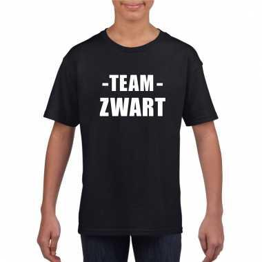Team zwart shirt jongens en meisjes voor evenement