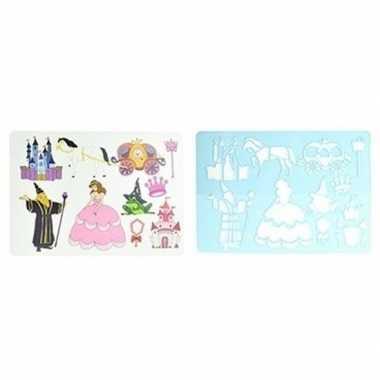 Teken sjablonen prinsessen thema