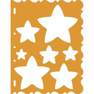 Teken sjablonnen sterren