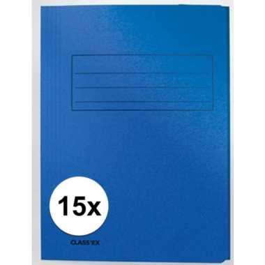 Tekeningen opbergmappen blauw 15 stuks