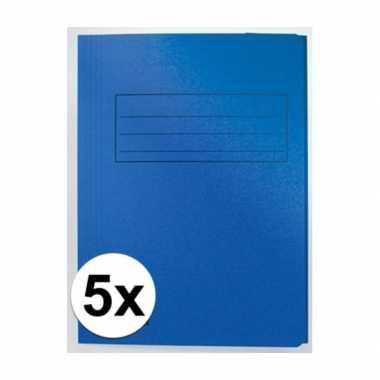 Tekeningen opbergmappen blauw 5 stuks