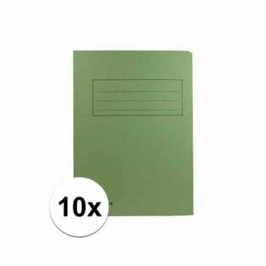 Tekeningen opbergmappen groen 10 stuks