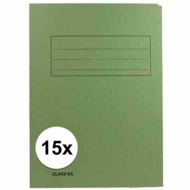 Tekeningen opbergmappen groen 15 stuks