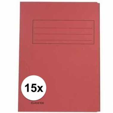 Tekeningen opbergmappen rood 15 stuks