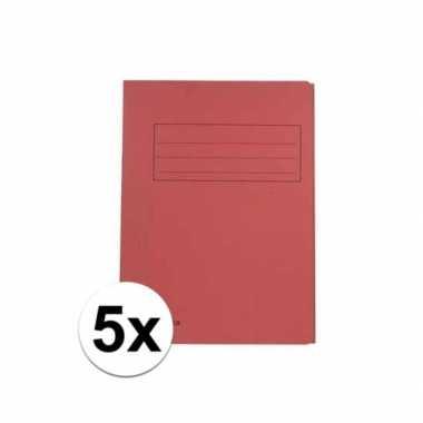 Tekeningen opbergmappen rood 5 stuks