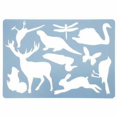 Tekensjablonen noorse dieren