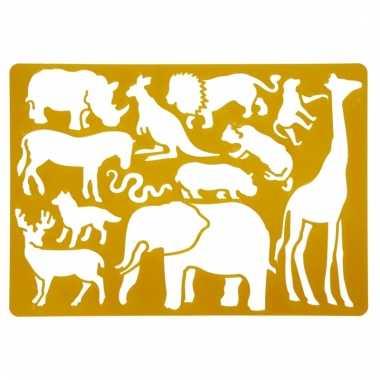 Tekensjablonen wilde dieren