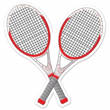 Tennis thema deco racket 25 cm