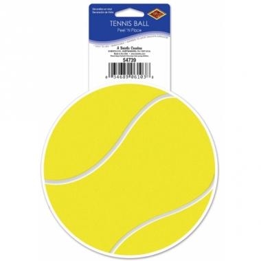 Tennis thema sticker 13 cm