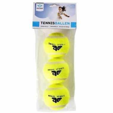 Tennisballen in een set van 3 stuks