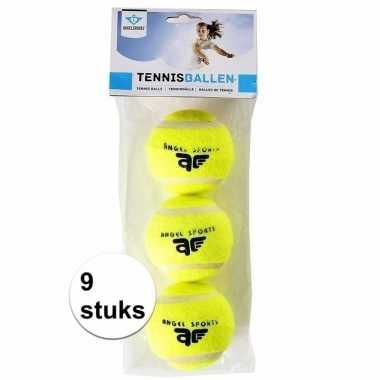 Tennisballen in een set van 9 stuks