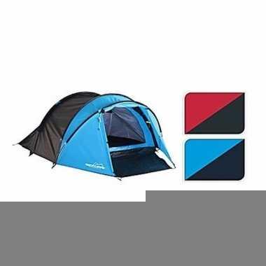 Tent blauw/zwart 3 persoons