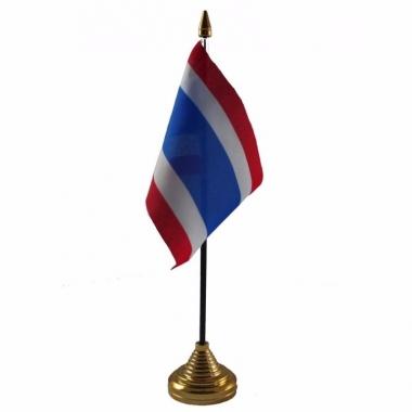 Thailand versiering tafelvlag 10 x 15 cm
