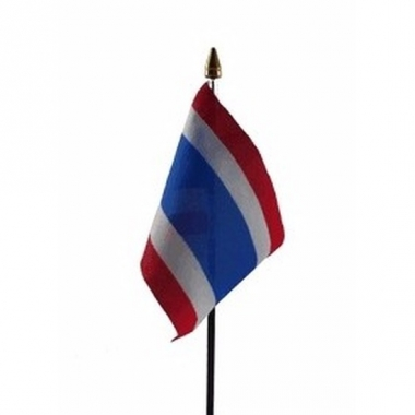 Thailand vlaggetje polyester