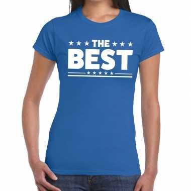 The best fun t-shirt blauw voor dames