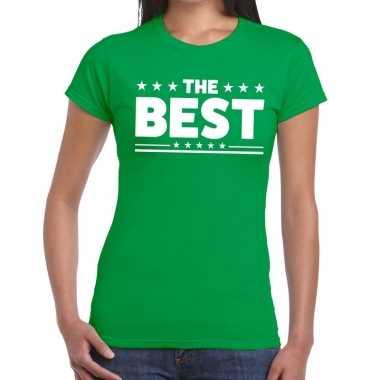 The best fun t-shirt groen voor dames