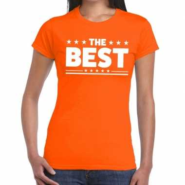 The best fun t-shirt oranje voor dames