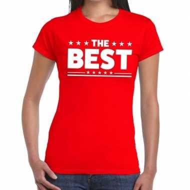 The best fun t-shirt rood voor dames