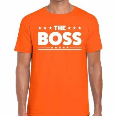 The boss fun t-shirt oranje voor heren