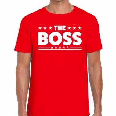 The boss fun t-shirt voor heren rood