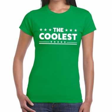 The coolest fun t-shirt groen voor dames