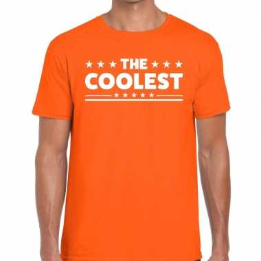 The coolest fun t-shirt oranje voor heren