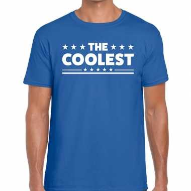 The coolest fun t-shirt voor heren blauw