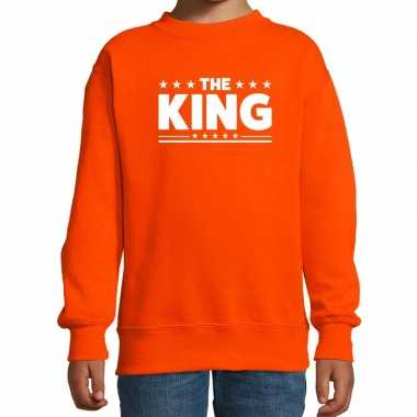 The king fun sweater oranje voor kids
