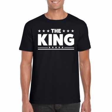 The king fun t-shirt voor heren zwart