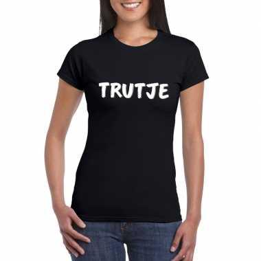Thema feest fun t-shirt zwart voor dames