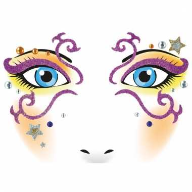 Thema gezicht folie circus sticker 1 vel