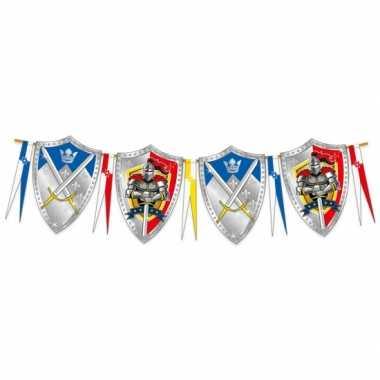 Thema ridder vlaggenlijn slingers 6 meter